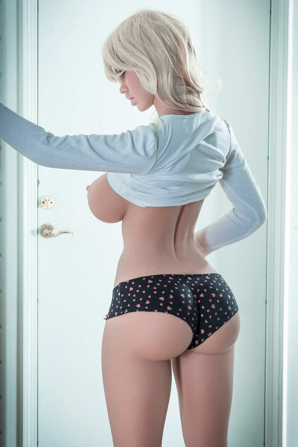 Sex doll showing buttocks