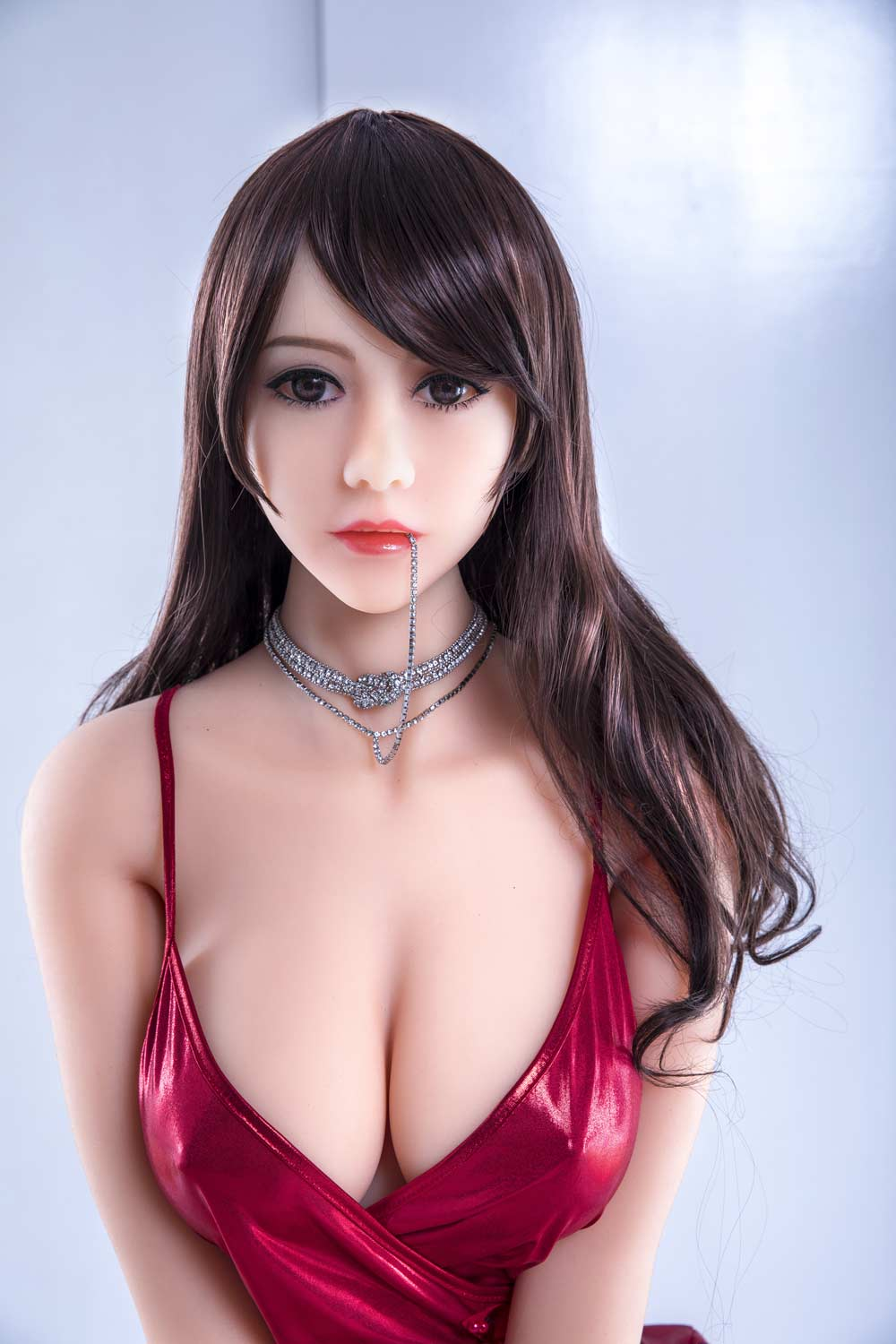 Sex doll with a necklace