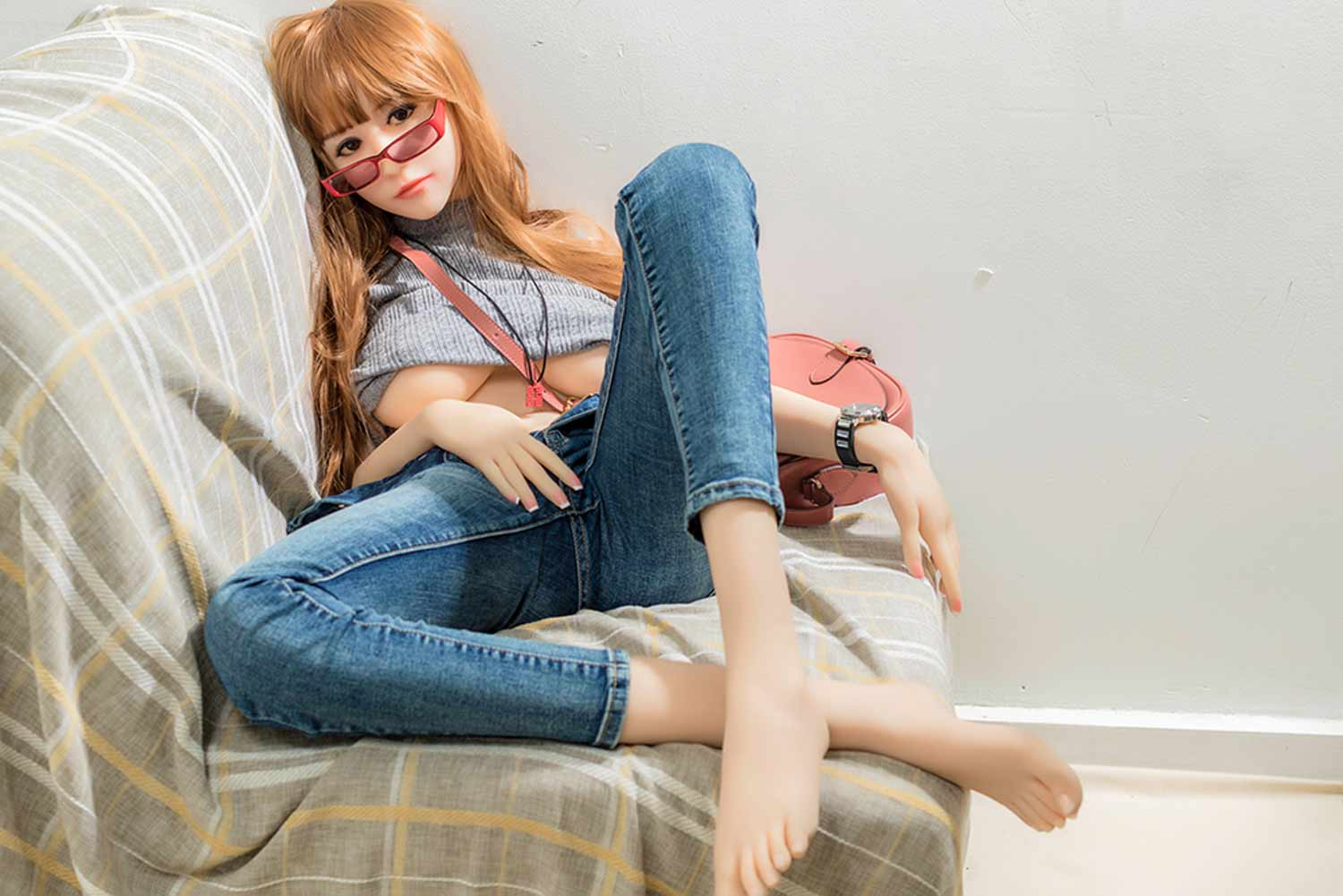 Sex doll with glasses