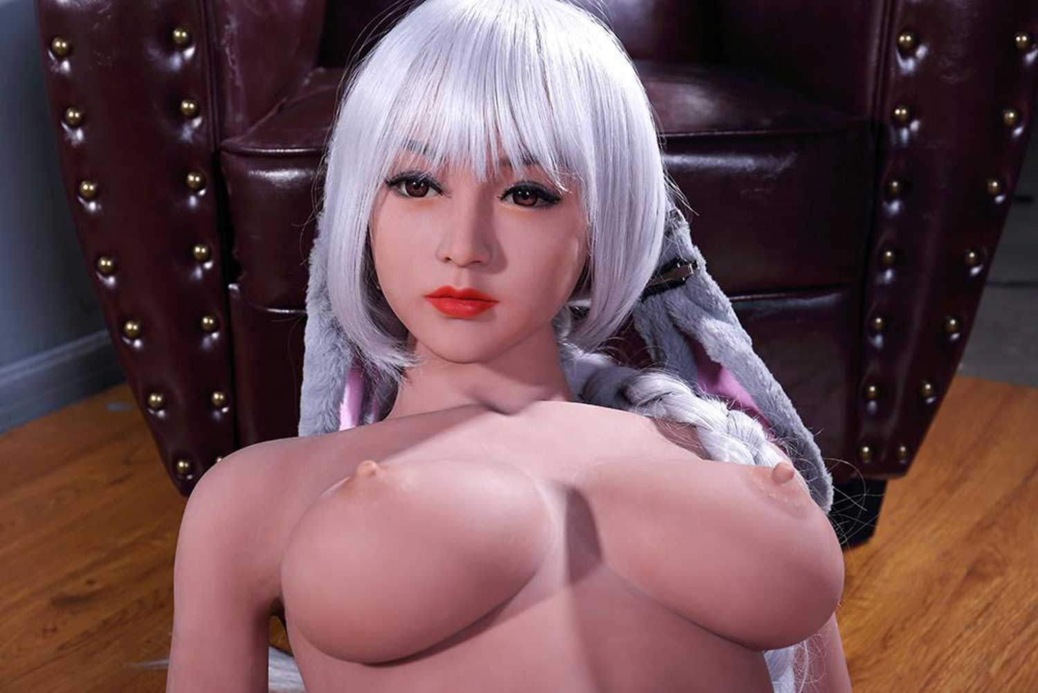 Sex doll with red lips