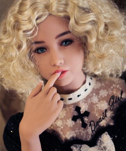 sex doll in a black dress 2