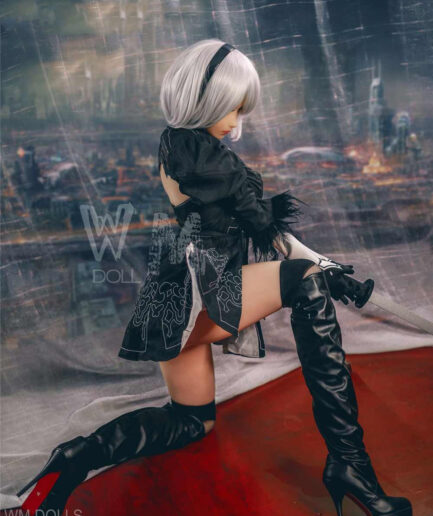 Anime Sex Doll wear balck skirt