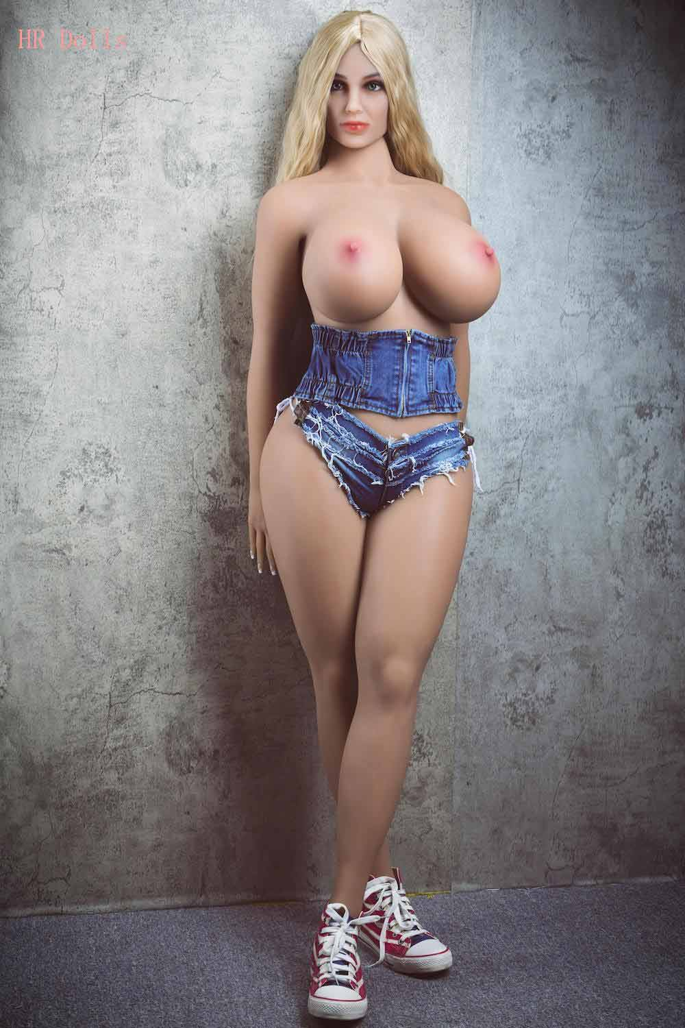 Big breasted sex doll without a bra