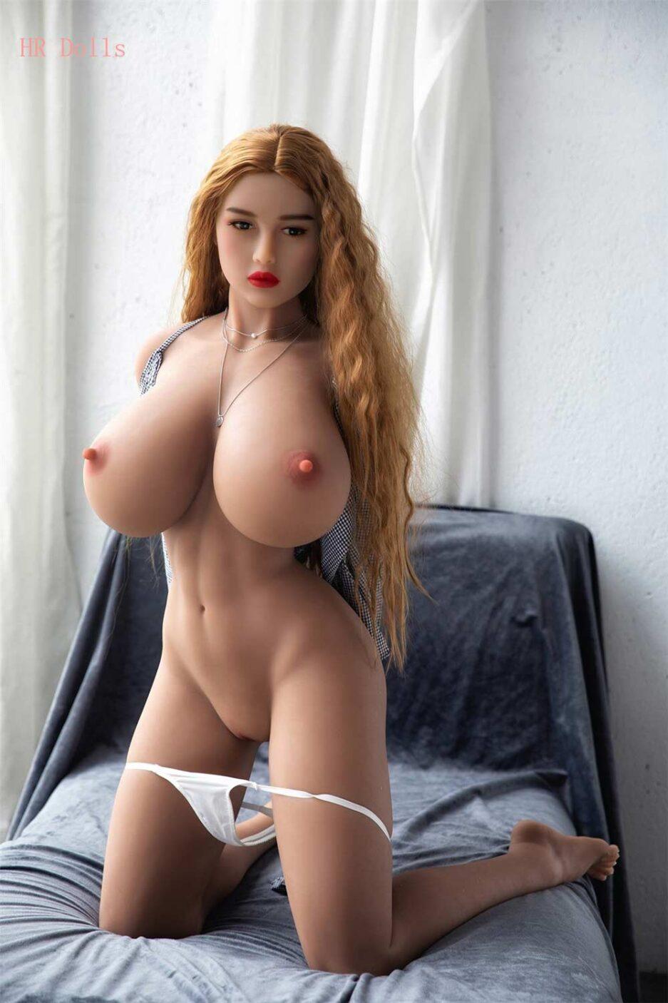Kneeling busty sex doll