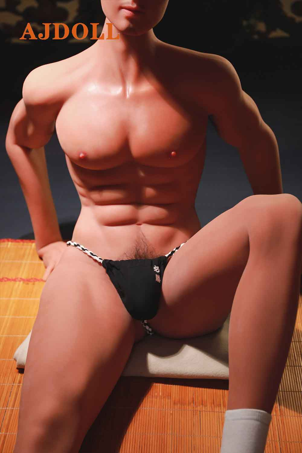 Male doll with beautiful chest muscles