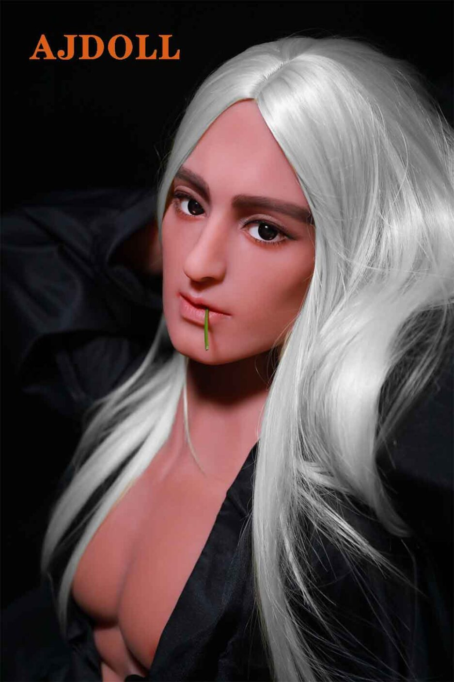 Male sex doll with white hair