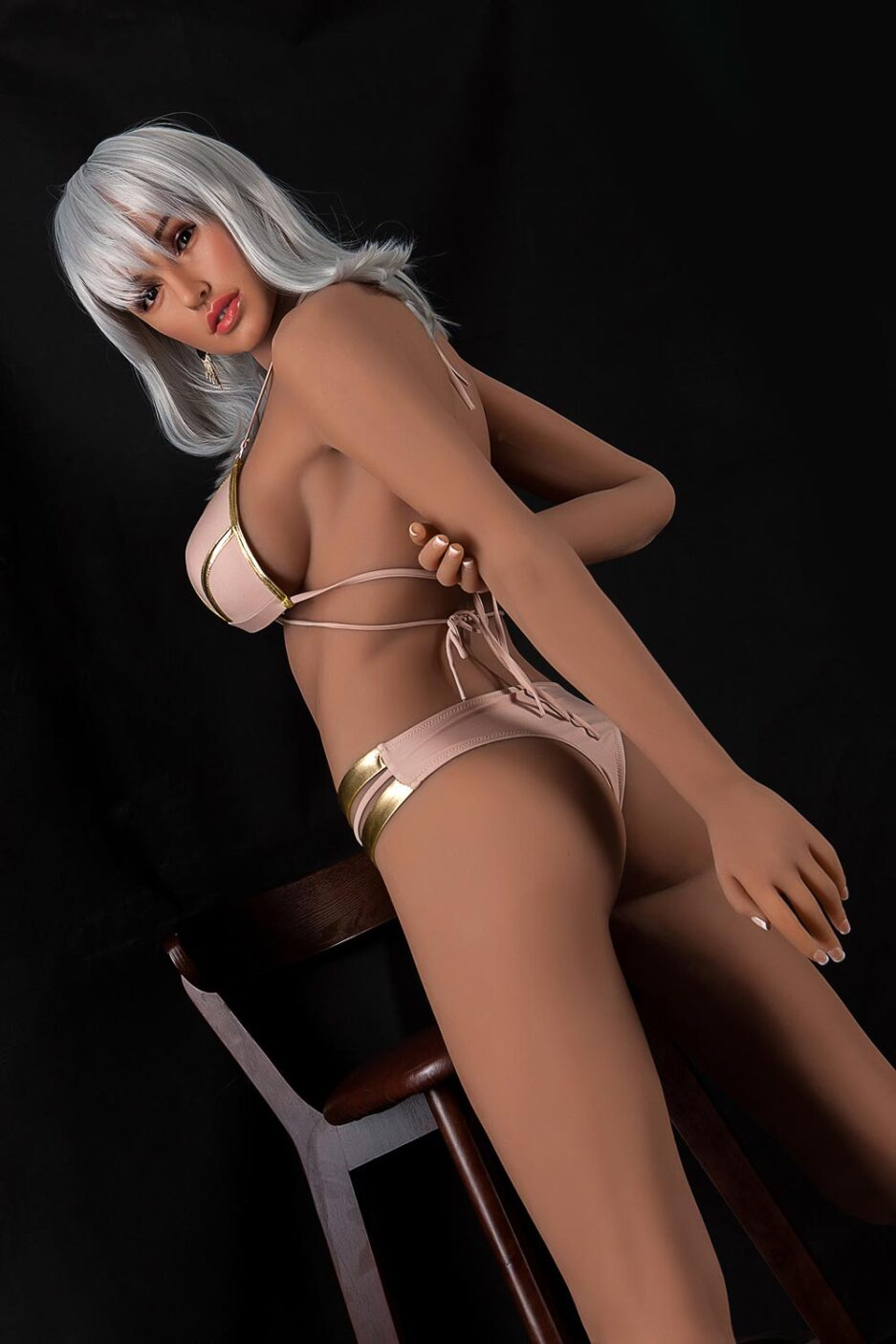 Silicone sex doll with arm in hand