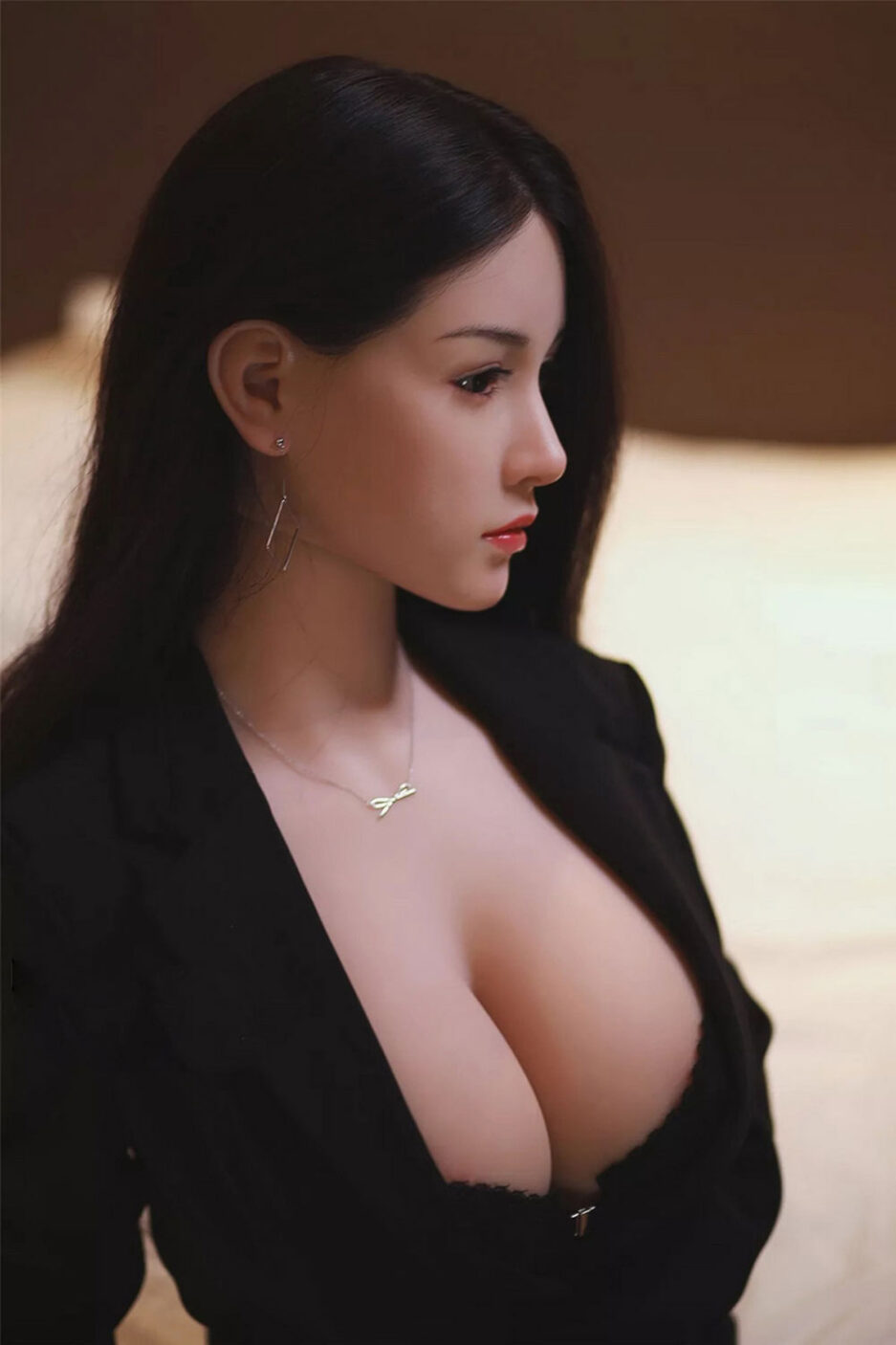 Silicone sex doll with earrings
