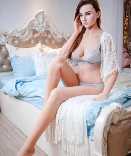 Silicone sex doll with hands touching ears