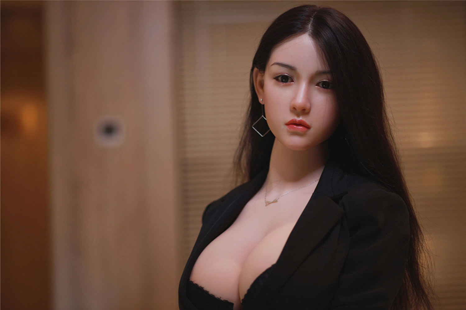 Silicone sex doll with necklace