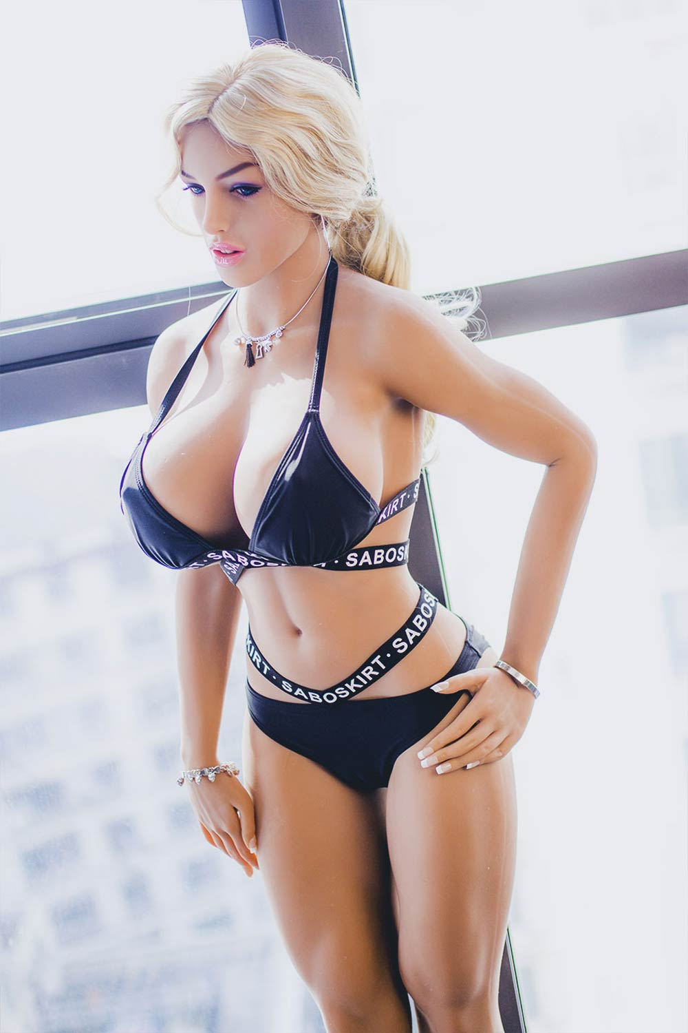 Athletic Blonde Sex Doll With Huge Tits