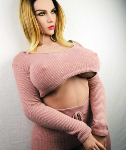 Big breasted big ass sex doll with hands together