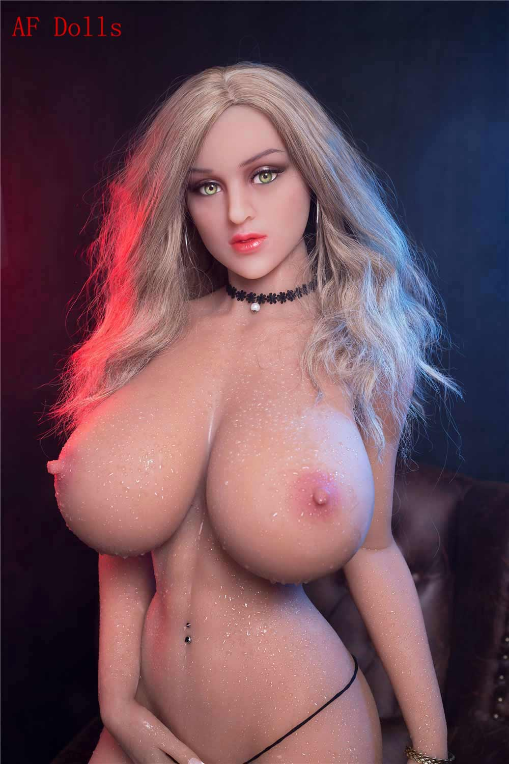 Big breasted sex doll with bra taken off
