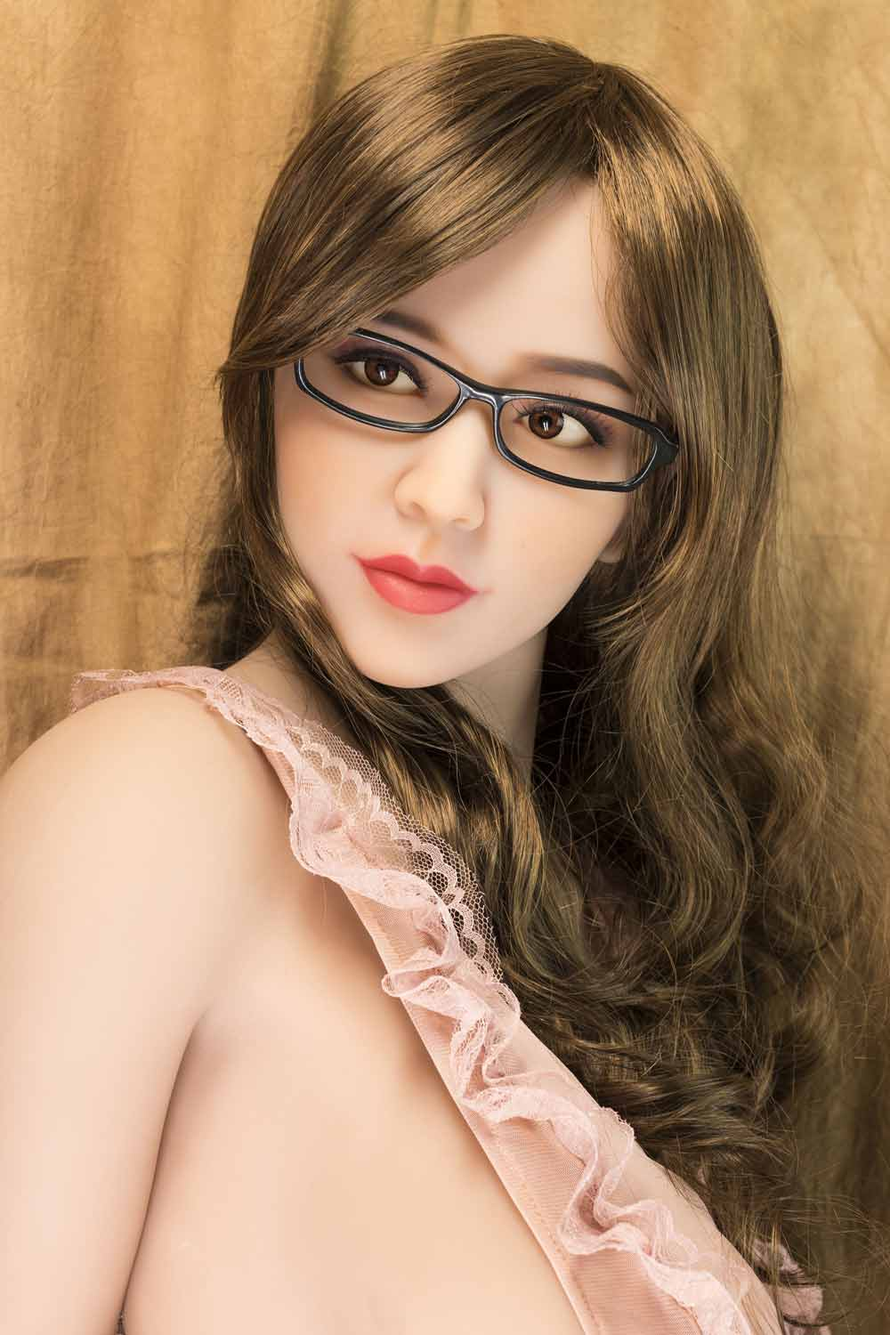 Big breasted sex doll with glasses