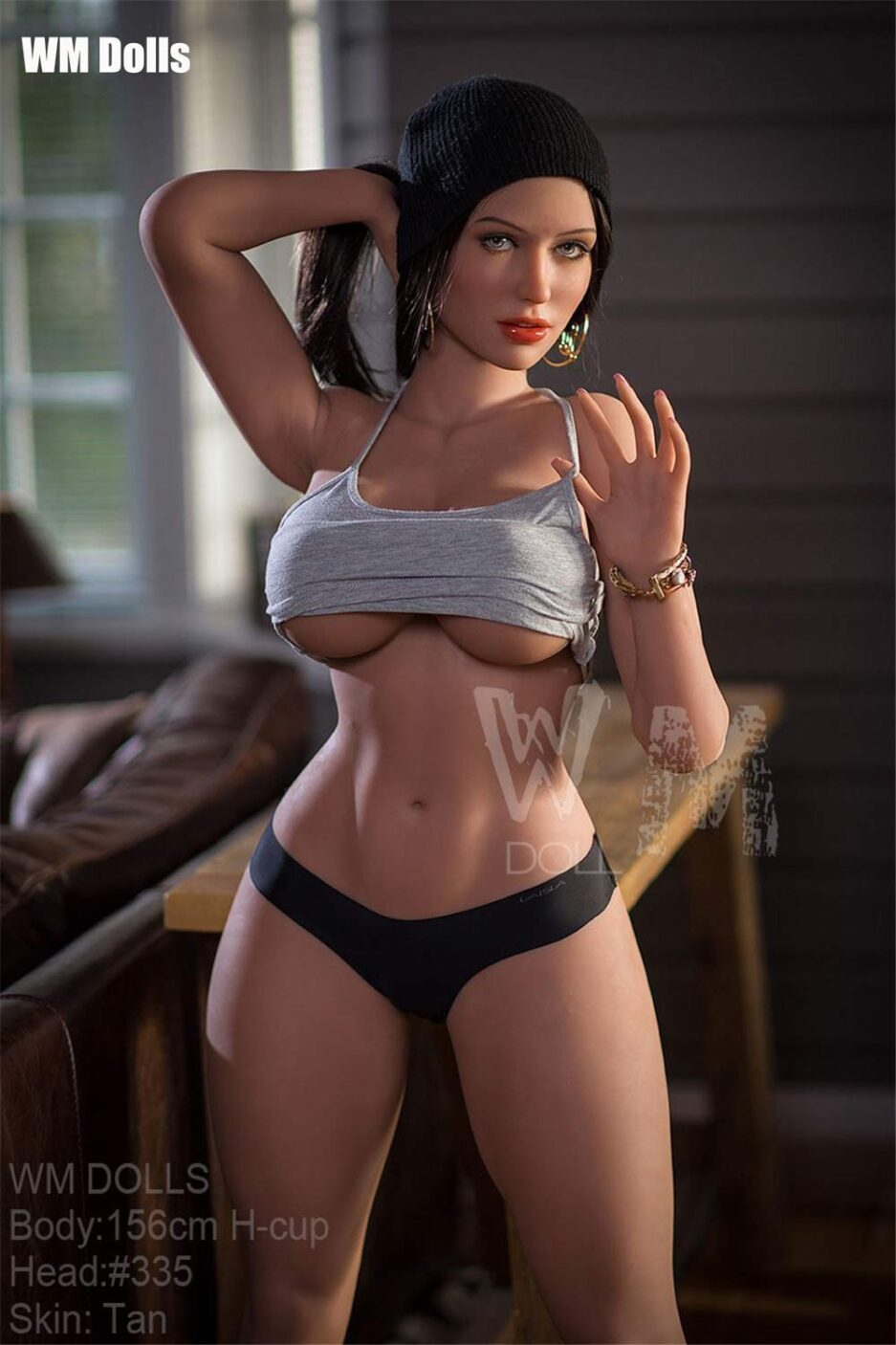 Big breasted sex doll with hair