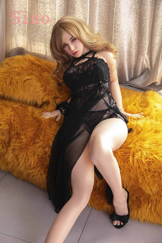 Blonde hair silicone sex doll