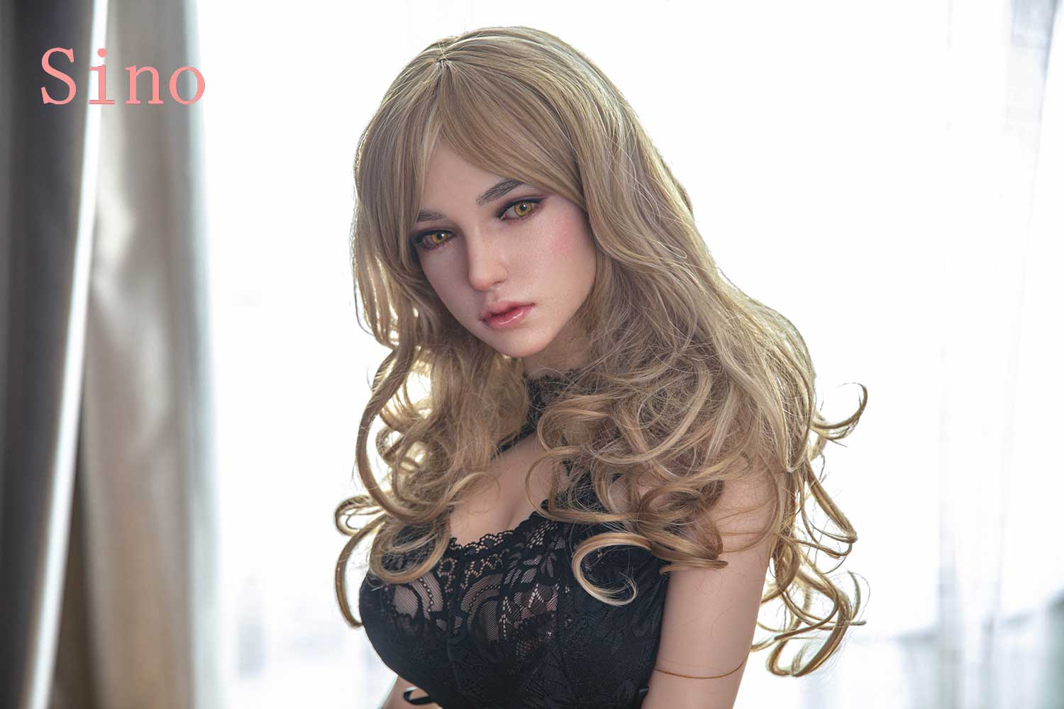 Brown silicone sex doll...