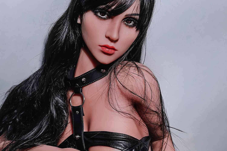 Sex doll with black eyeliner