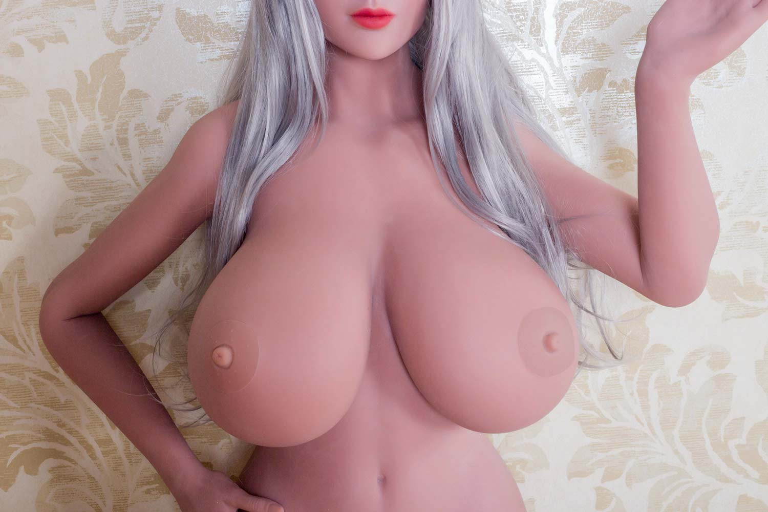 Sex doll with hands at waist