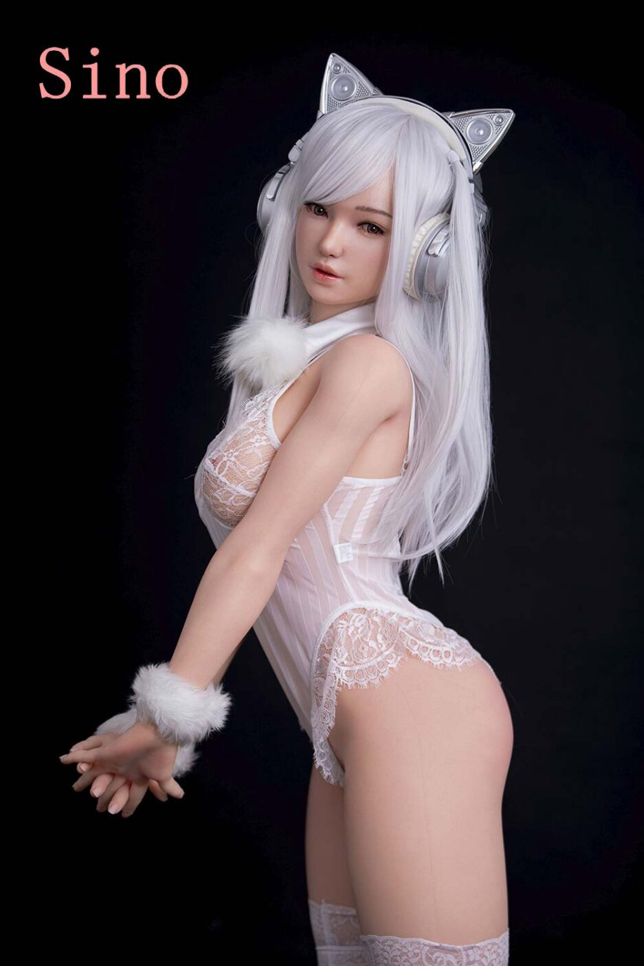 Silicone sex doll with folded hands