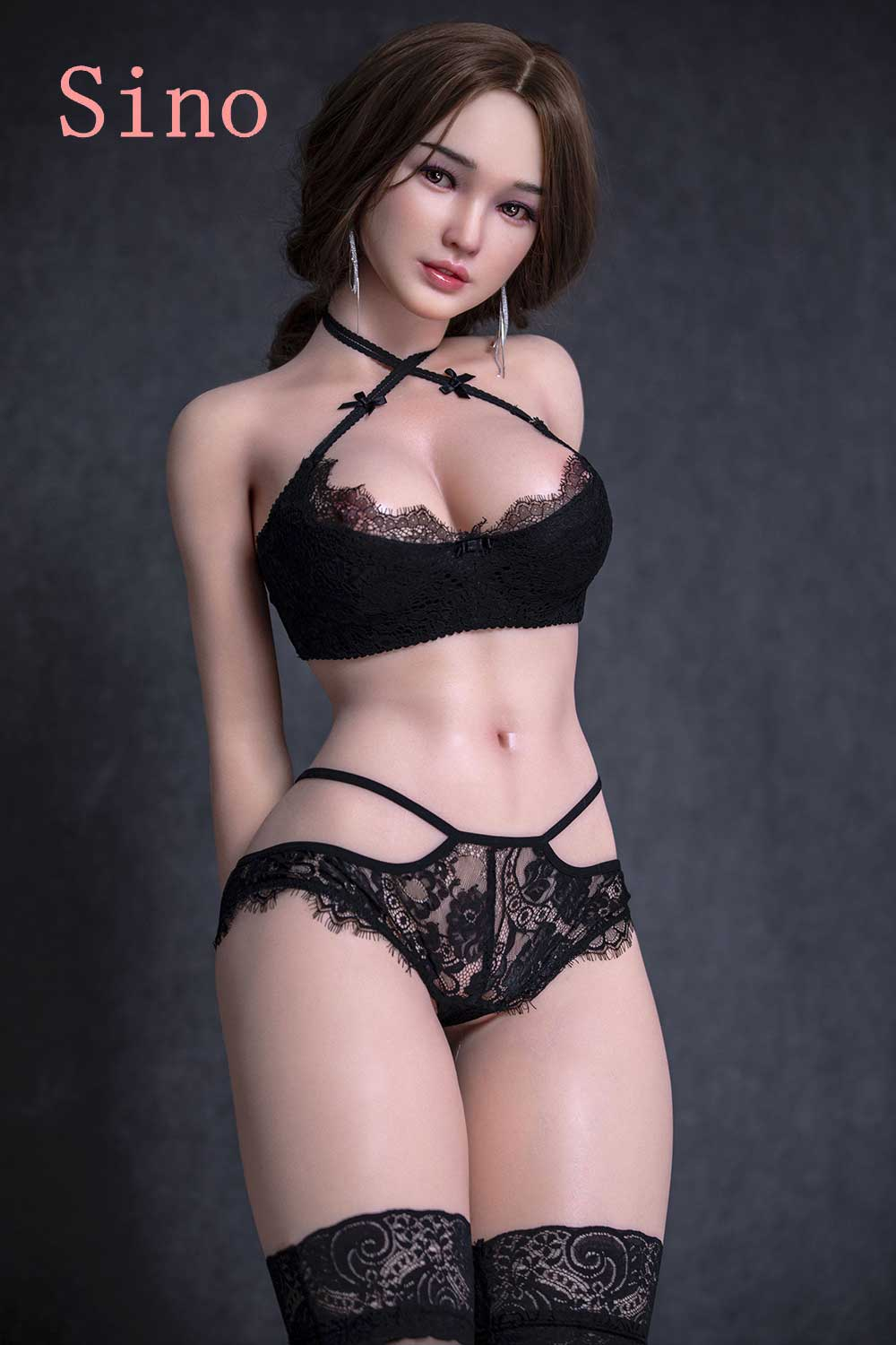 Silicone sex doll with hands behind back