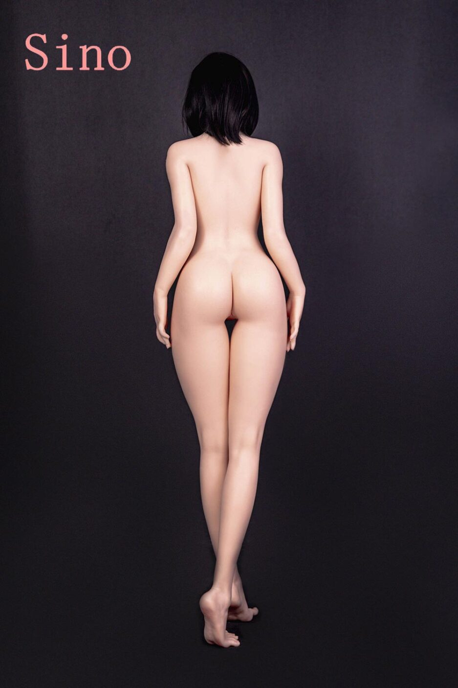 Silicone sex doll with naked back
