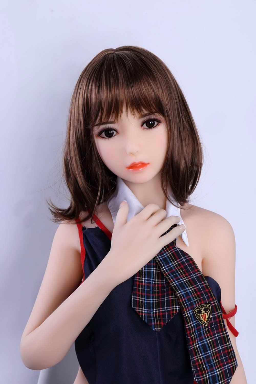 Black eyed mini sex doll