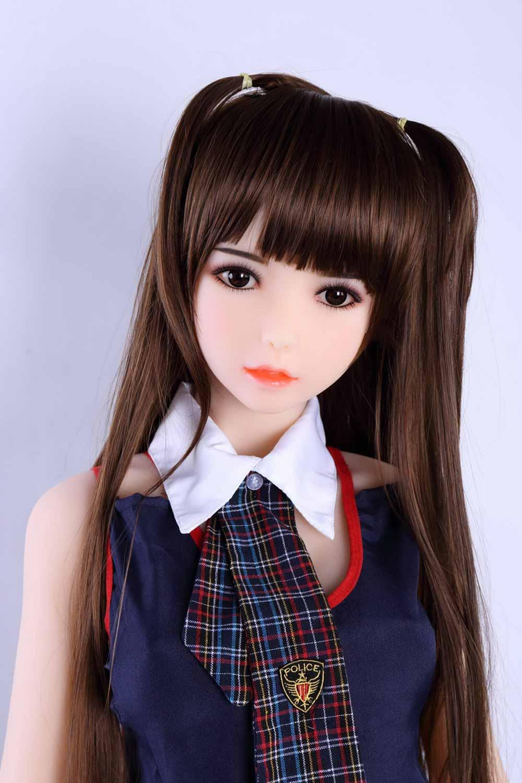 Mini sex doll in short-sleeved school uniform