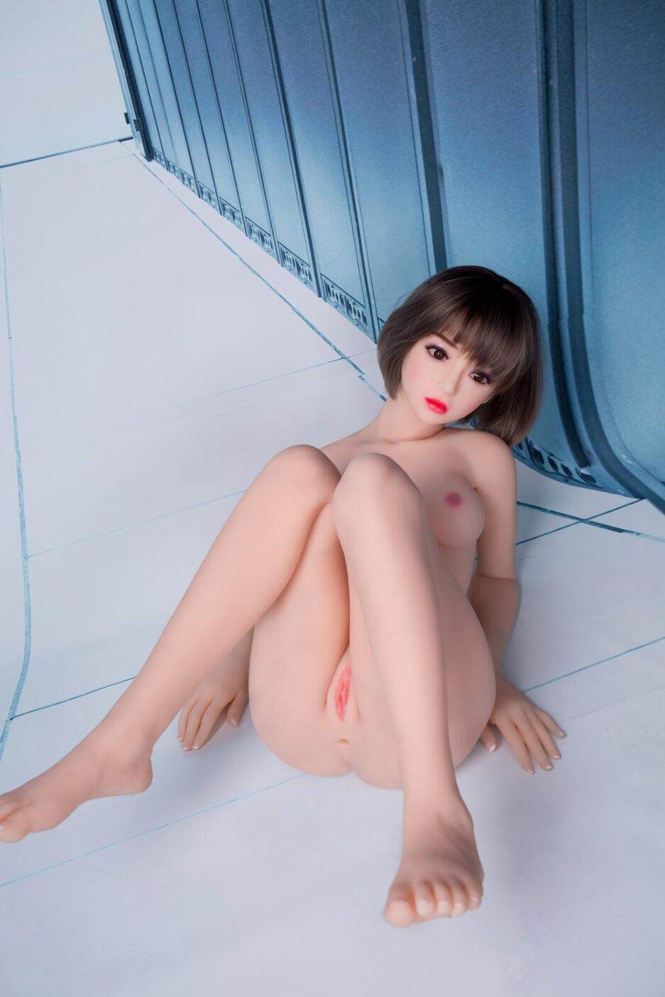 Sex doll lying on the ground