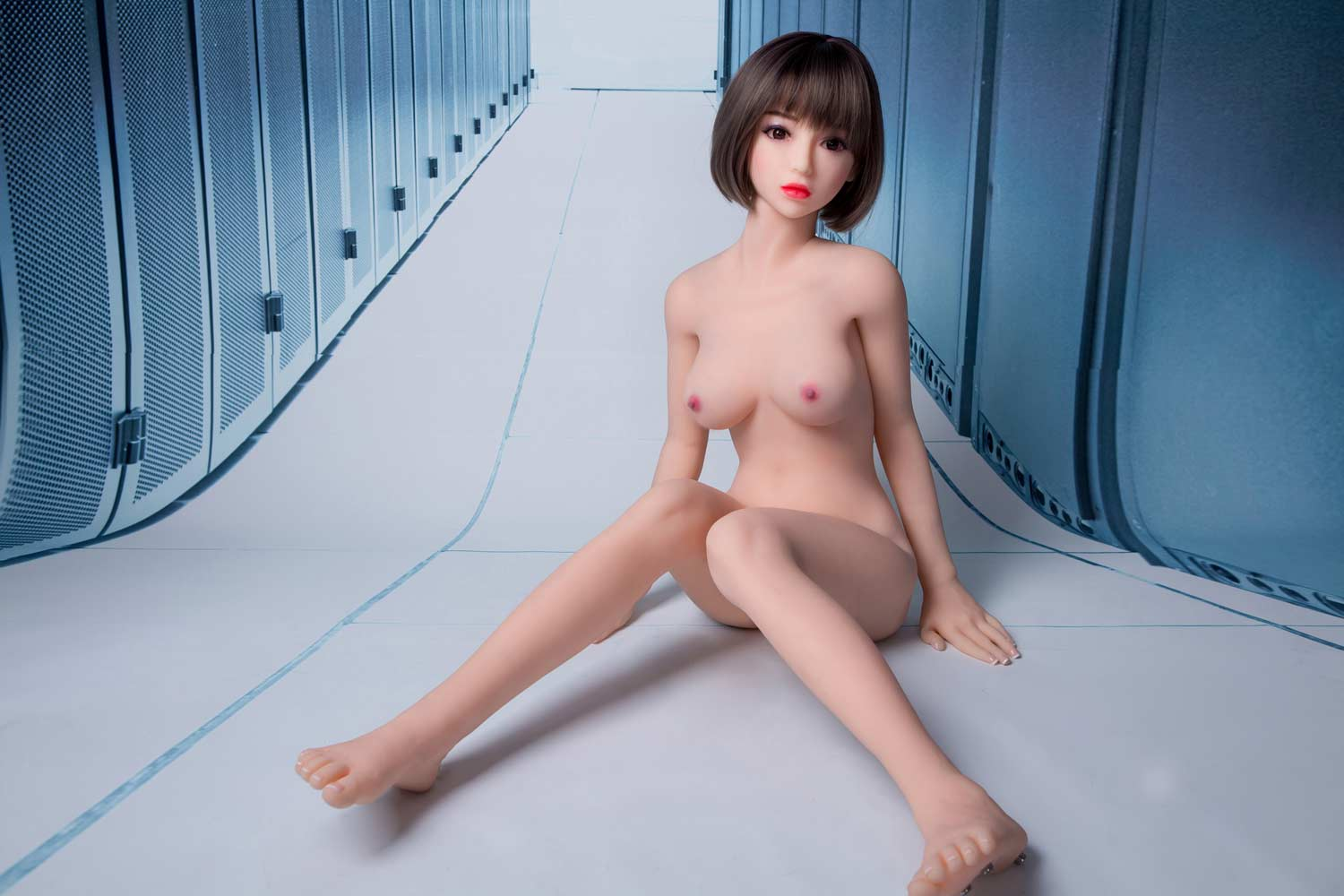 Sex doll with pink nipples