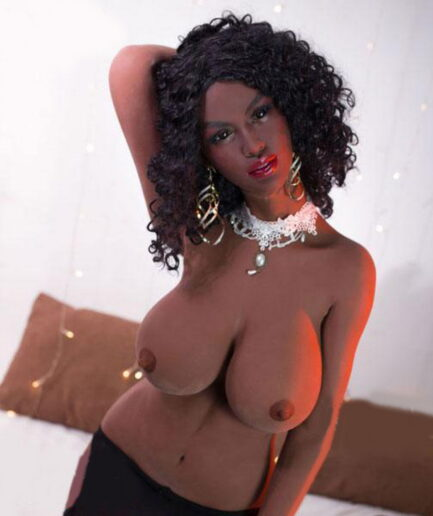 Black-sex-doll-with-hands-reaching-behind