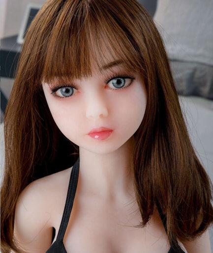 Mini sex doll with big grey eyes