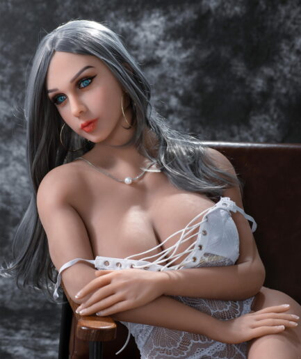 american sex doll wearing white lace