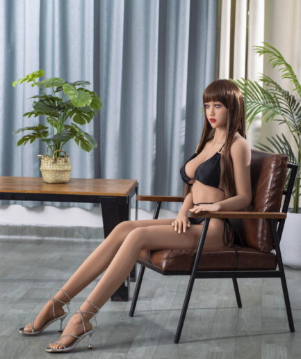 asian skinny sex doll left view